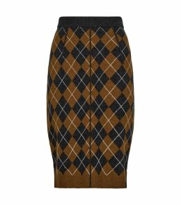 Argyle Knit Pencil Skirt