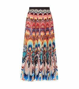 Pleated Marble Print Skirt