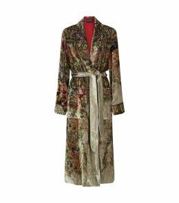 Garden Print Velvet Coat