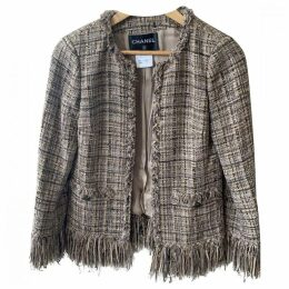 Tweed cardi coat