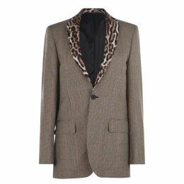 R13 Lapel Tuxedo Blazer