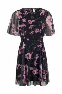 Floral Chiffon Tea Dress