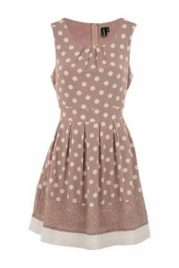 Polka Dot Lace Trim Dress