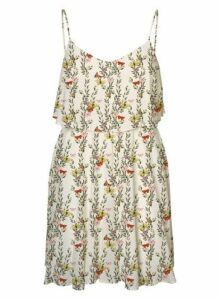 Womens **Vero Moda White Floral Print Camisole Dress- Multi, Multi