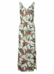Womens **Vero Moda White Tropical Print Maxi Dress- Multi, Multi