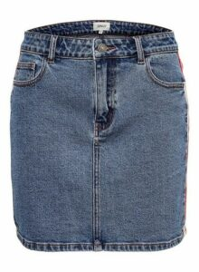 Womens **Only Mid Wash Denim Skirt- Blue, Blue