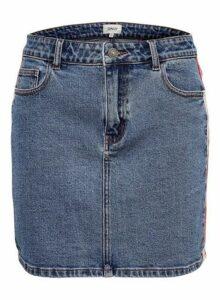 Womens **Only Mid Wash Denim Skirt- Blue, Blue