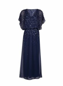 Womens **Showcase Navy Danielle Maxi Dress- Blue, Blue