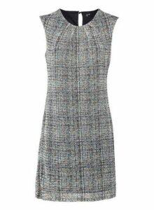 Womens *Izabel London Grey Tweed Print Shift Dress, Grey