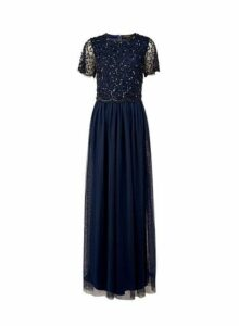 Womens **Showcase Tall Navy Tina Maxi Dress- Blue, Blue