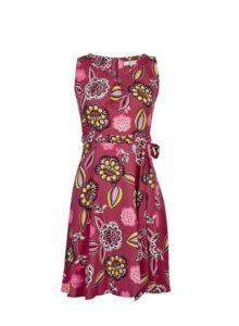 Womens **Billie & Blossom Petite Pink Floral Print Skater Dress- Pink, Pink