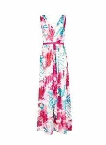 Womens **Showcase Pink 'Sherrie' Tropical Print Maxi Dress- Multi Colour, Multi Colour