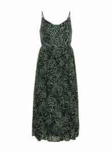 Womens **Vero Moda Green Printed Pleated Dress- Pink, Pink