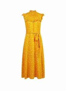 Womens **Billie & Blossom Yellow Daisy Print Midi Dress, Yellow