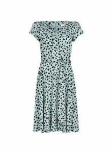 Womens **Billie & Blossom Tall Blue Fit And Flare Dress- Blue, Blue