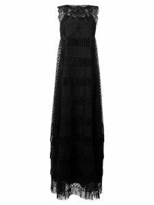 Alberta Ferretti embroidered lace maxi dress - Black