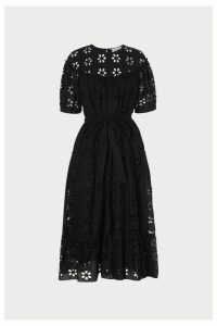 Womens L.K.Bennett Black Rego Broderie Cotton Dress -  Black