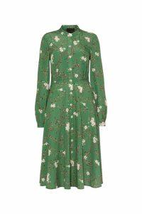 Womens Phase Eight Green Christina Floral Shirt Dress -  Green