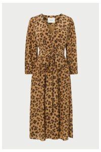 Womens L.K.Bennett Animal Roman Print Wrap Dress -  Animal