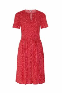 Womens Cath Kidston Red Scattered Spot Tea Dress -  Red
