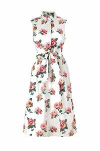 Womens Cath Kidston Cream Chiswick Rose Tie Waist Shirt Dress -  Cream