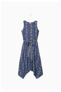 Womens FatFace Blue Rosa Tile Patch Geo Dress -  Blue