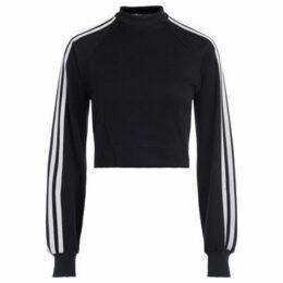 Y-3  black crewneck sweatshirt with white side stripes  women's Sweatshirt in Black