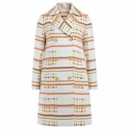 Tory Burch  multi-colored patterned coat with double-breasted closure  women's Coat in Other