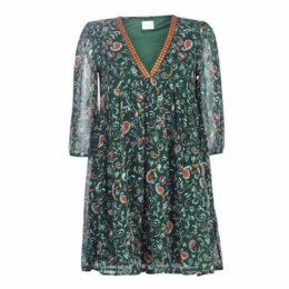 Vila  VINILAH  women's Dress in Green