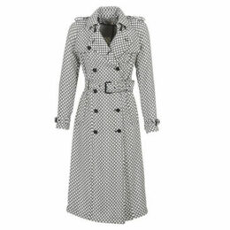 MICHAEL Michael Kors  DRAPEY LOGO TRENCH  women's Trench Coat in Multicolour