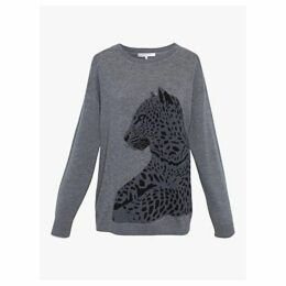 Gerard Darel Satheen Animal Jumper, Grey