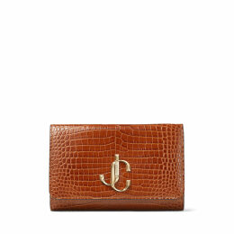 VARENNE CLUTCH Cuoio Croc Embossed Leather Clutch Bag with JC logo