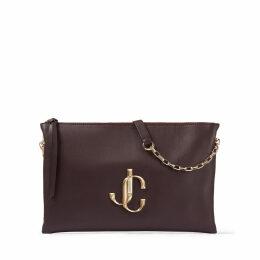 VARENNE SHOULDER/S Bordeaux Calf Leather Shoulder Bag with JC Logo