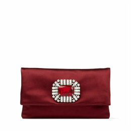 TITANIA Bordeaux Satin Clutch Bag
