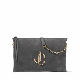 VARENNE SHOULDER/S Dusk Suede Shoulder Bag with JC Logo