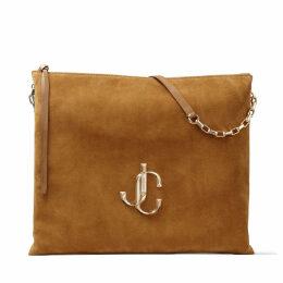 VARENNE SHOULDER/L Cuoio Suede Shoulder Bag with JC Logo