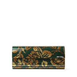 SWEETIE Dark Teal Brocade Acrylic Clutch Bag