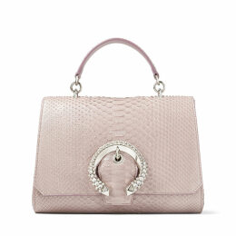 MADELINE TOP HANDLE Mauve Python Top Handle Bag with Crystal Buckle