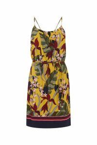 Womens Oasis Yellow Bali Tropical Cami Dress -  Yellow