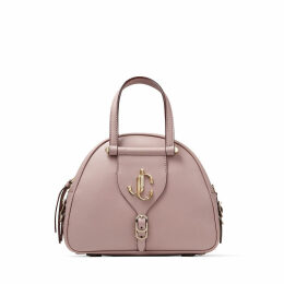 VARENNE BOWLING/S Mauve Calf Leather Bowling Bag with Gold JC Logo