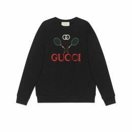 Oversize sweatshirt with Gucci Tennis