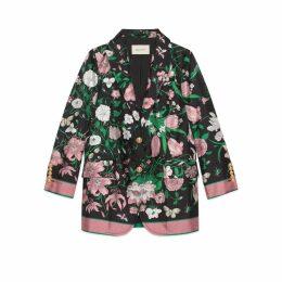 Silk jacket with Flora print