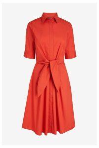 Womens Lauren Ralph Lauren Red Wakana Shirt Dress -  Red