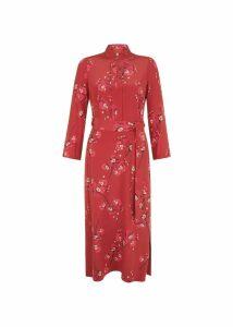 Margot Silk Dress Burgundy Cerise 18