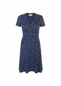 Darcie Dress Navy Ivory