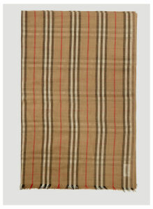 Burberry Heritage Stripe and Vintage Check Scarf in Beige size One Size