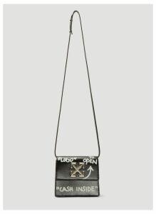 Off-White 0.7 Jitney Shoulder Bag in Black size One Size