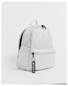 Nike grey and iridescent just do it mini backpack