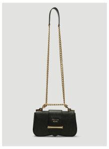 Prada Sidonie Leather Shoulder Bag in Black size One Size