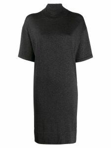 Brunello Cucinelli turtle neck dress - Black